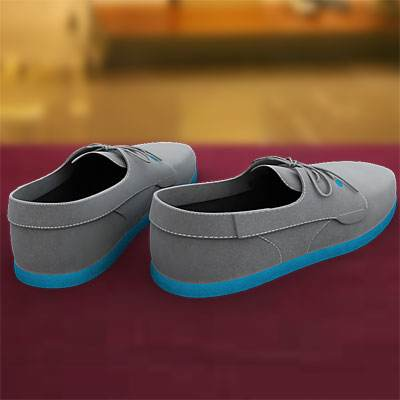 model: 3D Grey sneakers for jogging and walks