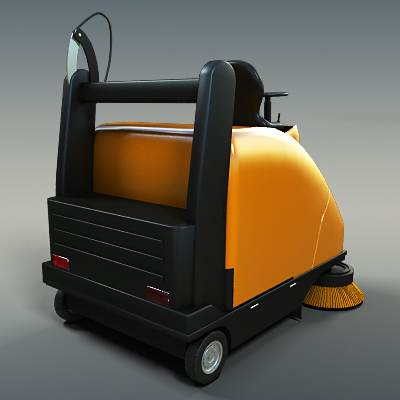 The 3D model of a Street sweeper