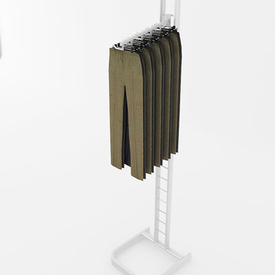 3D model of Trousers on rack