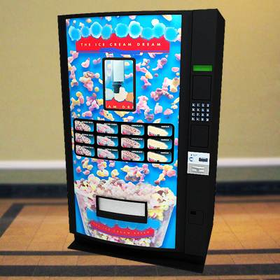 The 3D model of an Ice cream vending machine