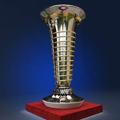 The 3D model of the FIA drivers trophy