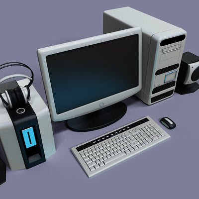 3D model of a PC set