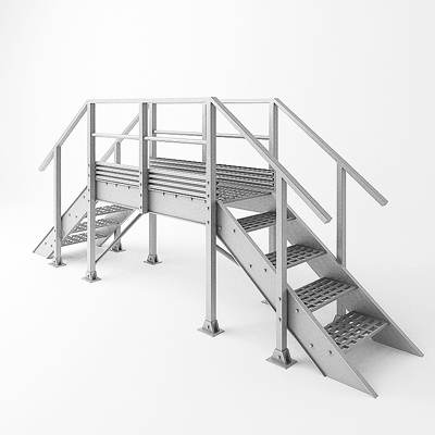 model: 3D medium ladder