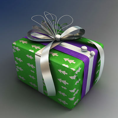3D model of a gift wrap