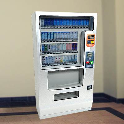 The 3D model of a Tobacco vending machine