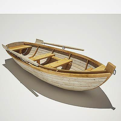 An old style double-banked boat 3D model