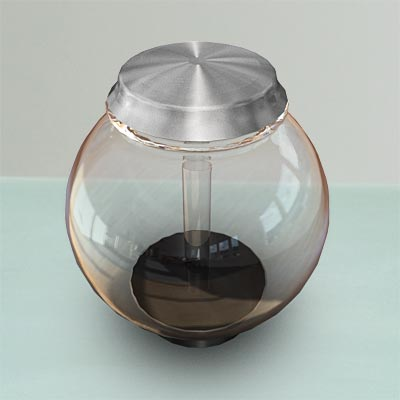3D model of an empty fish bowl