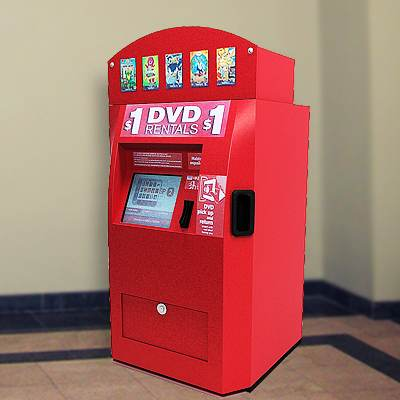 The 3D model of DVD vending machine