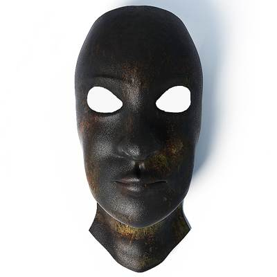 3D model: A traditional black Masonic mask