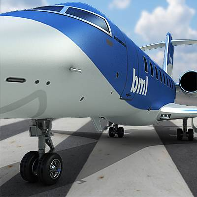 Realistic and detailed Bombardier Challenger 605 3D model