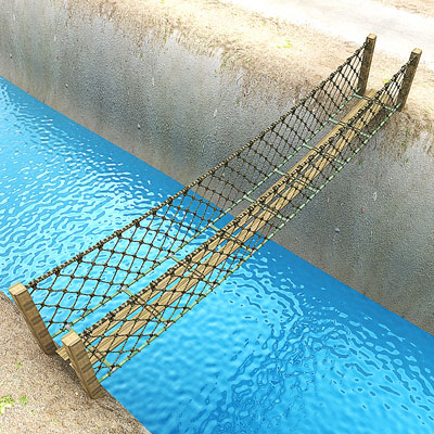 3D model of a Rope bridge