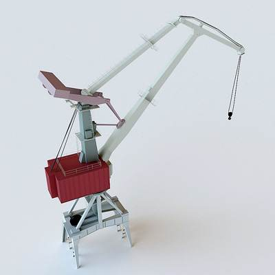 The 3D model of a Big Port Crawler crane