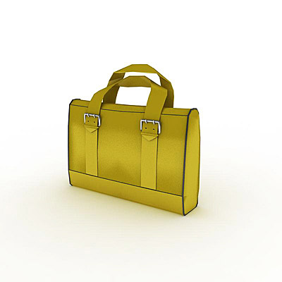 3D model of a Yellow satchel