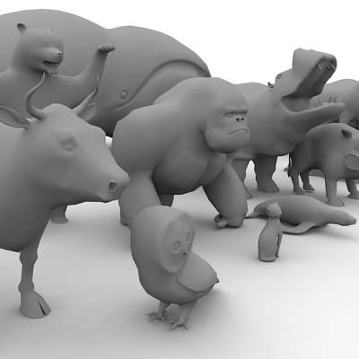 Low poly animals 3D models collection