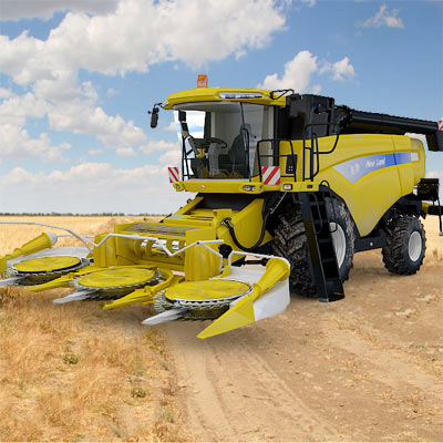 3D model of the Combine harvester New land