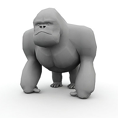 3D model of a gorilla