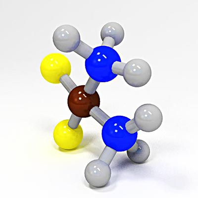 3D model of Cisplatin molecule structure