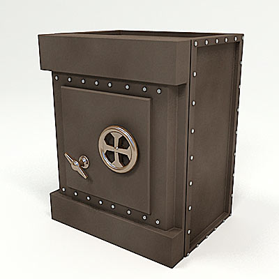 3D model of an Old safe