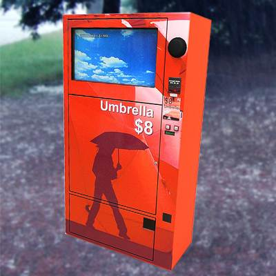 The 3D model of an Umbrella vending machine