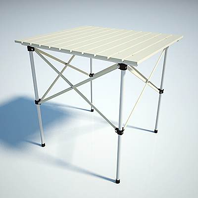 The 3D model of a Camping table