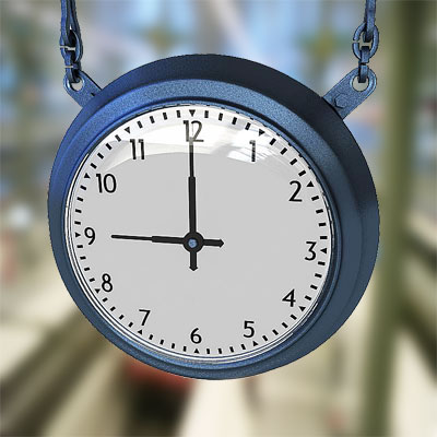 3D model of Station clock