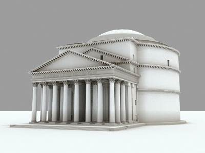 The 3D model of the Gray Pantheon