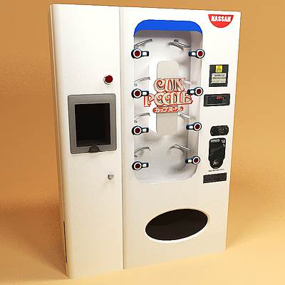 The 3D model of Cup noodle vending machine