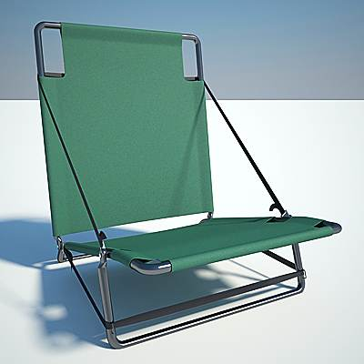 model: The 3D realistic Folding chair
