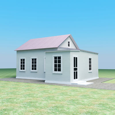 3D model of a Small town house