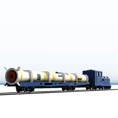 3D model: Rocket train from Plesetck.