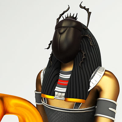 3D model of Khepri<br />