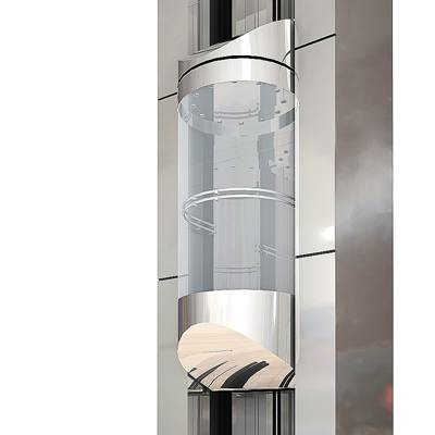 The 3D model of a Glass panoramic elevator