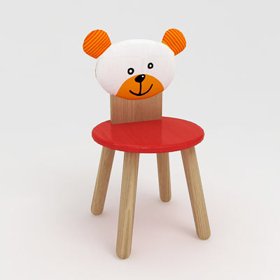 3D model of a kid's chair