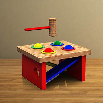 The 3D model of a typical kids' game