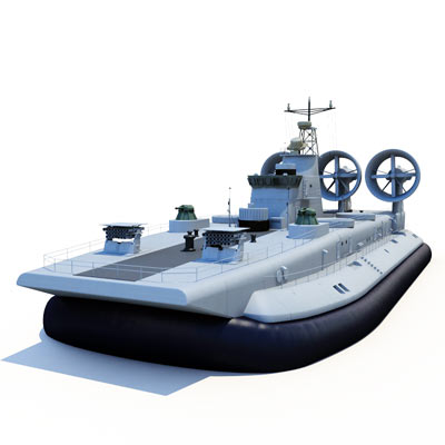 3D model of the Zubr class LCAC