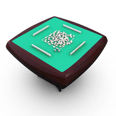 model: Very realistic Mahjong 3D table