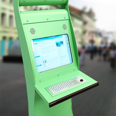 The 3D model of an Interactive information kiosk
