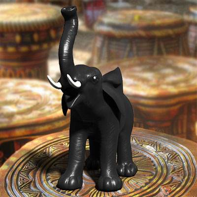 The 3D model of an Elephant statuette