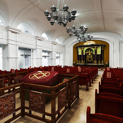 3D model of Synagogue interior