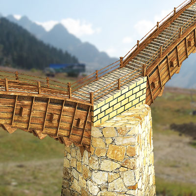 3D model of an Stone Arch bridge