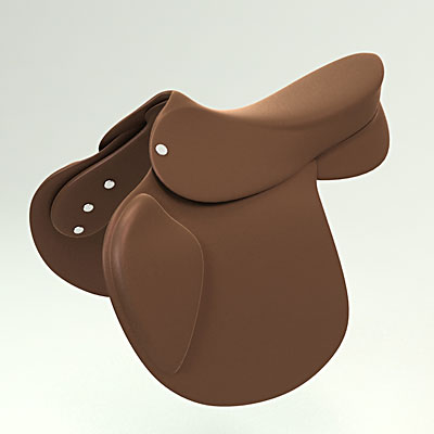 3D model of a Racing saddle