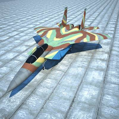 F-15 Eagle fighter jet 3D model