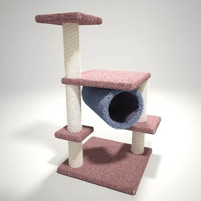 model: 3D nice and realistic cat tree