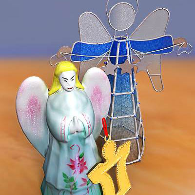 model: A 3D set of Angel figurines - popular Christmas decorations