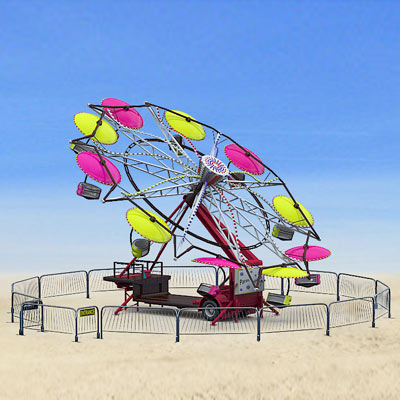 3D model of a Paratrooper ride