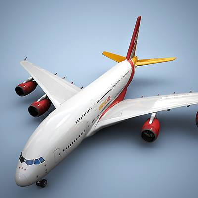 Airbus A380 Red logo 3D model