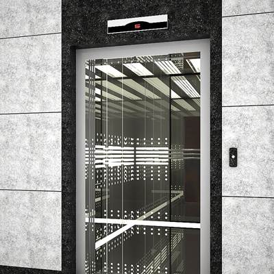 The 3D model of a modern elevator