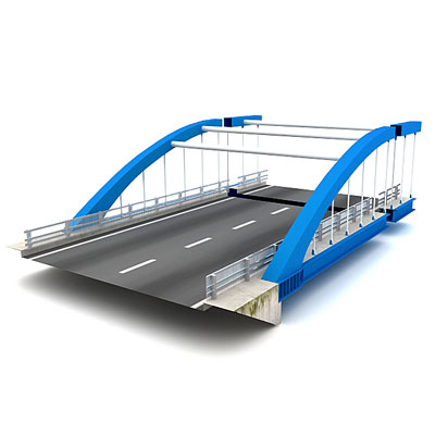 3D model of a Modern bridge
