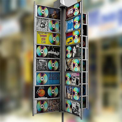 3D model of a CD display Rack