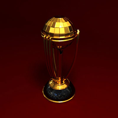 3D model of the Cricket World Cup trophy